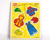Vintage PlaySkool Puzzle My Clothes