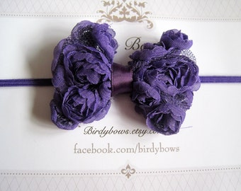 Purple Baby Bow, Infant Bow, Baby Girl Bow, Baby Headbands, Infant Headbands, Baby Girl Headbands