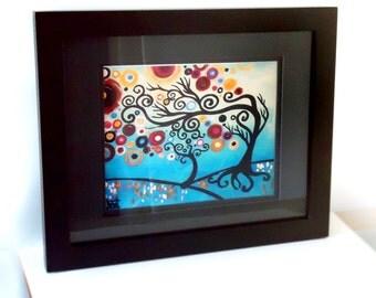 Blue Family Tree Art Print,  fine art wall decor Natasha Wescoat 8x10 12x16 13x19 16x20