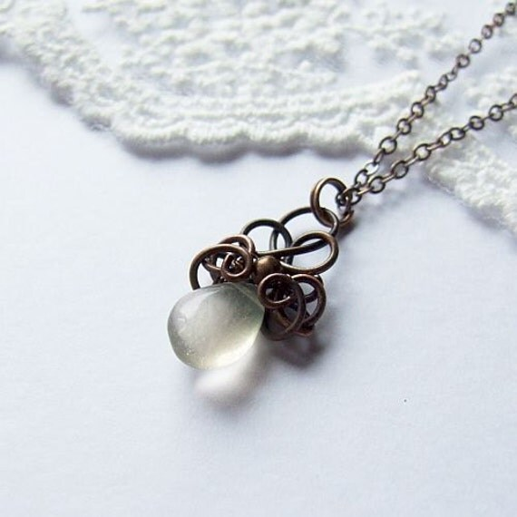 Simple Wire Wrapped Drop Necklace Tutorial, Jewelry ...