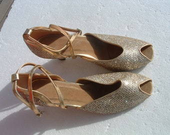 DANCING shoes never been worn size 38 made in Spain circa 1980's