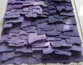Purple Lavendar Lilac Handpainted Paper Collage