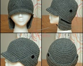 PDF Crochet Pattern Trapper Hat Hunting cap Baby Child Adult sizes
