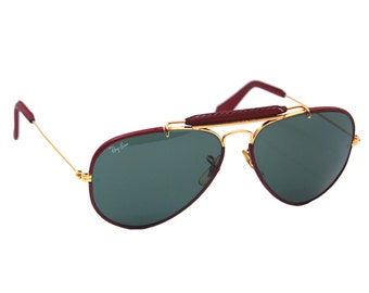 Vintage Ray Ban Sunglasses Leathers by Bausch and Lomb 62 mm