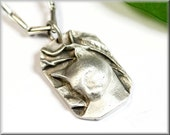"Pendant ""pride cat"" made of solid sterling silver"