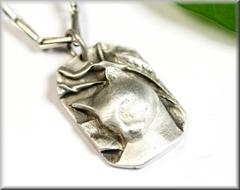 """Pendant """"pride cat"""" made of solid sterling silver"""