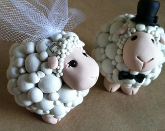Lamb love Wedding Cake Topper Handmade