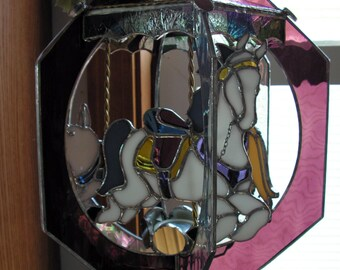 Carousel in Stained Glass with Music Button