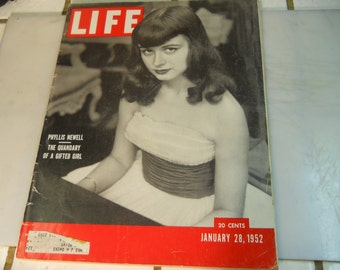 "LIFE  MAGAZINE      """" JANUARY 28,1952 """"      Very  Nice  Life  Magazine"