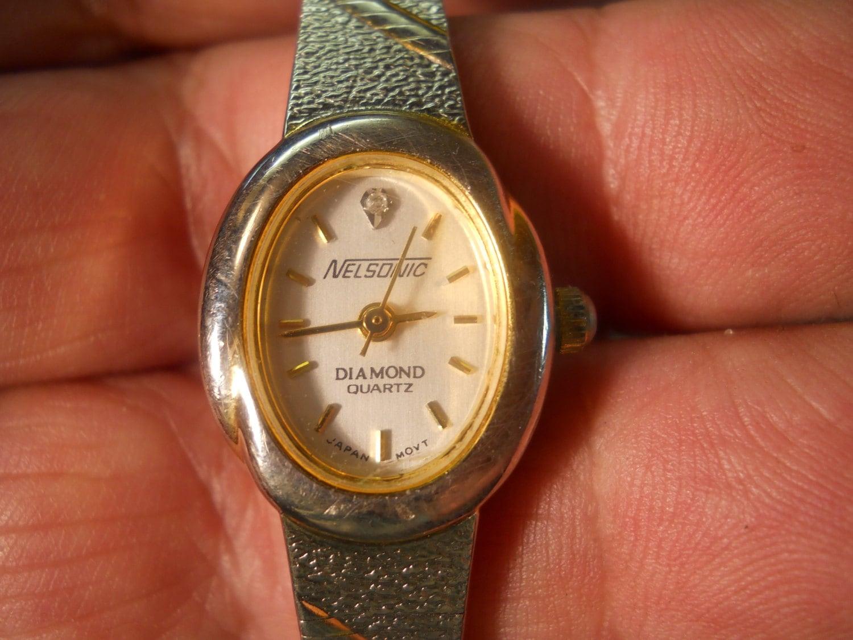 Nelsonic Diamond Quartz Watch