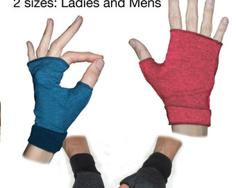 Gloves Pattern: Fingerless gloves in 2 sizes. Mens and ladies