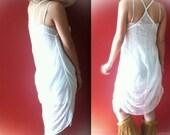 Shredded White Dress