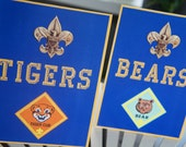 INSTANT DOWNLOAD - Cub Scout Rank Signs - Print Your Own