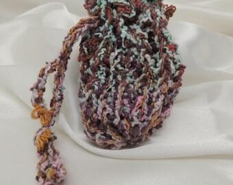 Funky Loom Knit Mini Pouch