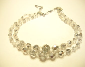 Vintage Double Strands CRYSTAL NECKLACE (6108)