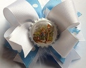 Easter Hair Bow - Peter Rabbit Boutique Bow - Easter Bow - Bunny Bow