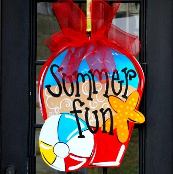 Door Hanger: Summer Front Door Decoration, Beach Ball