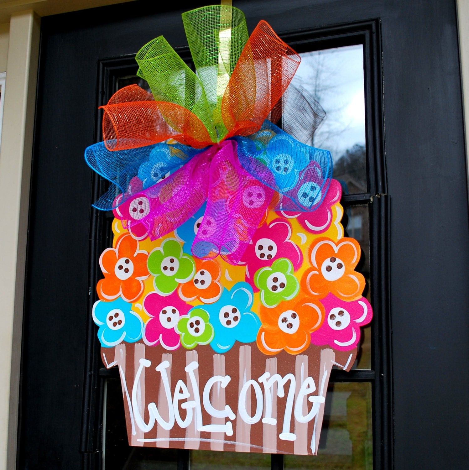 Spring Classroom Window Decorations ~ Items similar to door hanger spring decoration