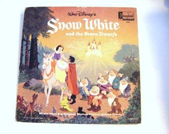1968 Walt Disneys Snow White And the Seven Dwarfs Music From The Original Soundtrack LP Album