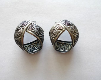 Silver Looped Hoop Earrings