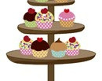 Cupcakes Needlepoint Canvas by Pepita