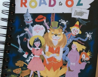 The Road to Oz Little Golden Book Recycled Journal Notebook