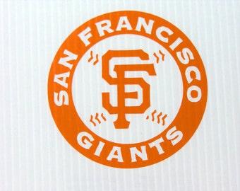 """San Francisco Giants Cut Vinyl Sticker  4"""" X 4"""""""