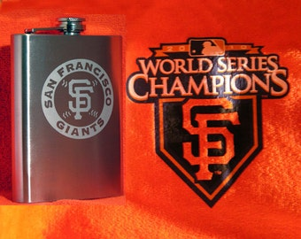 San Francisco Giants 8 oz. Stainless Flask