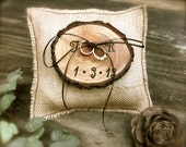 Burlap Ring Bearer Pillow Rustic Wedding Ring Holder