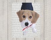Beagle Art Print - Modern Dog Art - 8x10