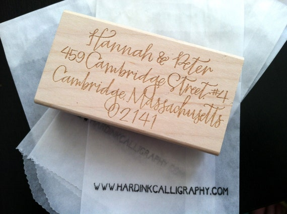 Custom Calligraphy Address Stamp By Hardinkcalligraphy On Etsy