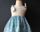 Baby Dress with Bloomers (Itty Bitty Dress Ivory and Light Blue Floral)