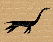 Loch Ness Monster 166 Vintage Digital Clip Art Paranormal Nessie Mystery Supernatural Creature Cryptozoology Plesiosaur