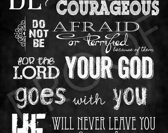 Chalkboard Art - Deuteronomy 31:6