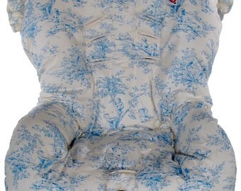 Toddler Car Seat Cover, Hula Moon Toddler Car Seat Cover in Blue Toile, Toddler, Baby Gear