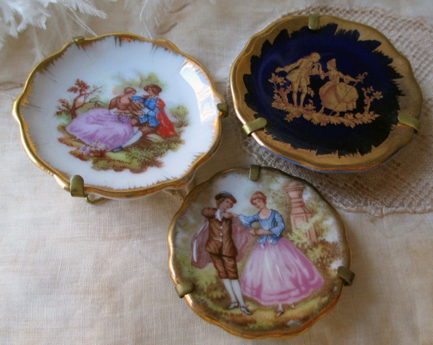 vintage limoges miniature plates dishes with by thepariscarousel. Black Bedroom Furniture Sets. Home Design Ideas