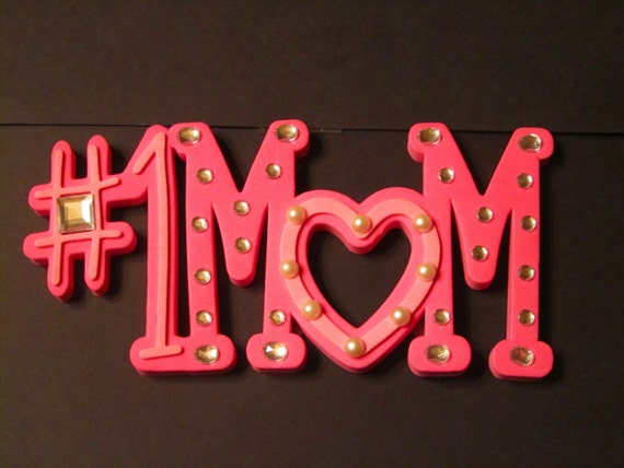 items similar to number one mom wall sign with photo