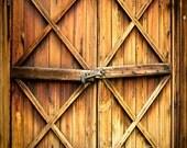 Photography Backdrop, Rustic Wood Barn Door Scenic Photo Background Ultralite Fabric-Not Vinyl SS235