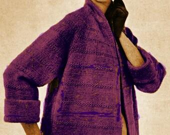 A BEST Vintage 1955 Elegant Jacket in Two Lengths 752 PDF Digital Knit Pattern