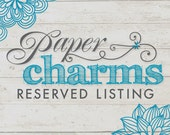 Reserved Listing - Custom Order for Joanne Dix