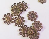 Bronze Bead Cap 20mm  - 60 pieces