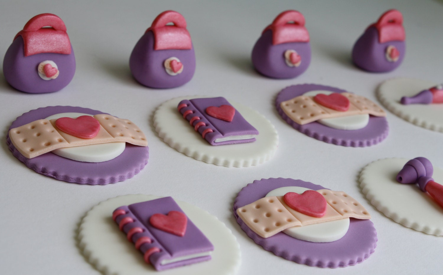 Toy Doctor Fondant Cupcake Toppers by KimSeeEun on Etsy