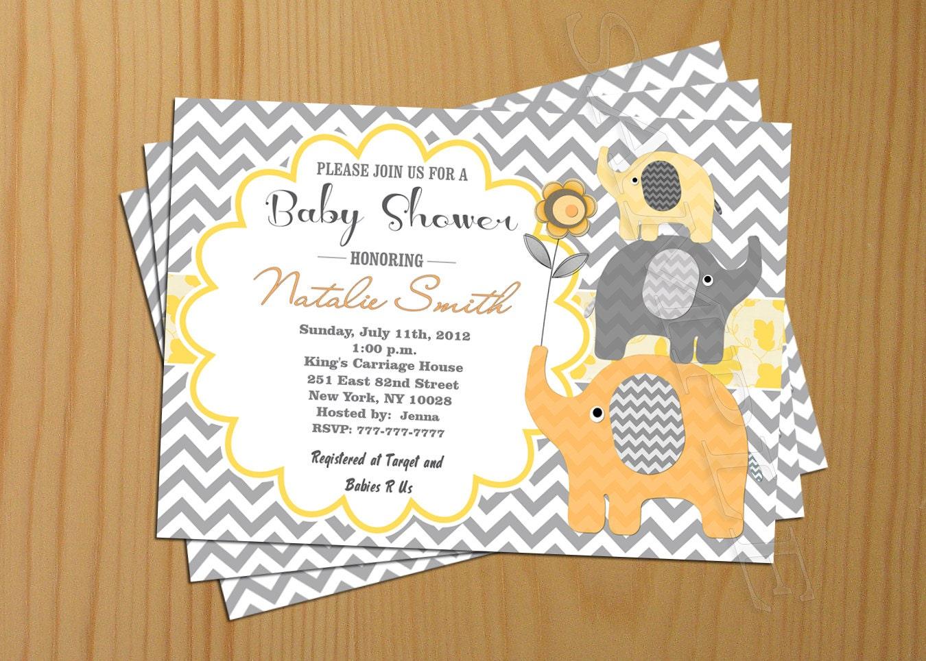 chevron baby shower invitation boy baby shower invitation girl
