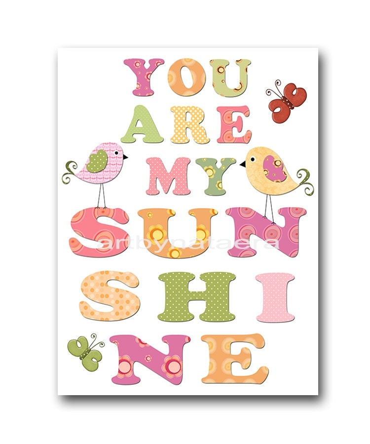 My Baby Girl S Nursery: You Are My Sunshine Baby Girl Nursery Art Print By