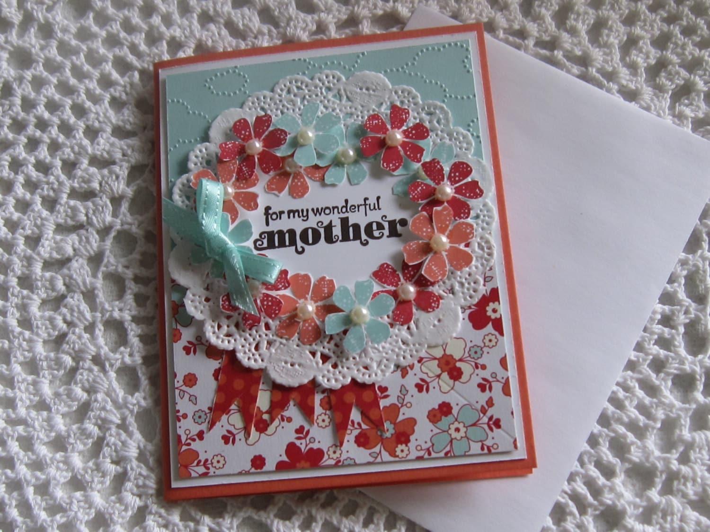handmade greeting card wonderful mother beautiful