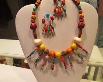 Ugandan paper bead safety pin set