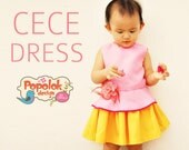 CECE Top & Dress PDF Pattern by Popolok Design - 8 sizes Girl Age 1 to 8