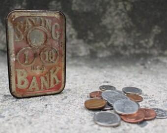 Tin Money Box/Savings Bank