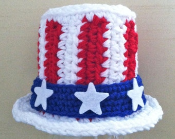 "Baby Patriotic Fourth of July ""Uncle Sam"" Hat for Boy"