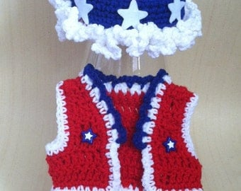 Newborn Patriotic Fourth of July Outfit for Girl